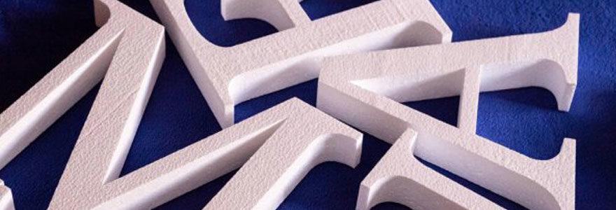 Lettre polystyrène